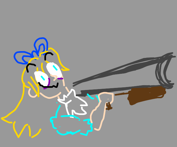 Little girl, big bazooka