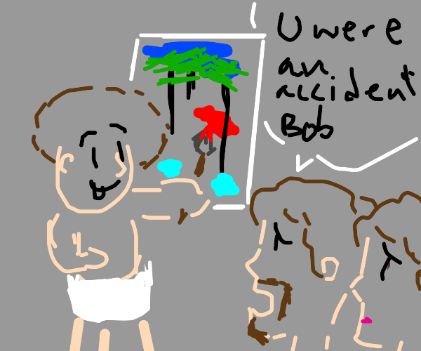 Bob Ross was a happy little accident
