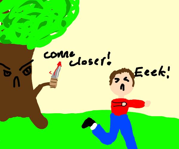 hug trees or theyll hug you