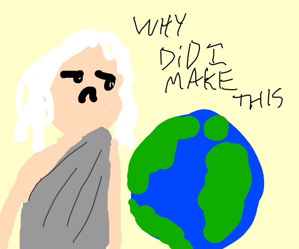 God making earth