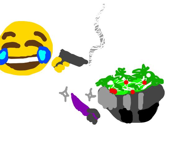 laugh emoji vs lettuces