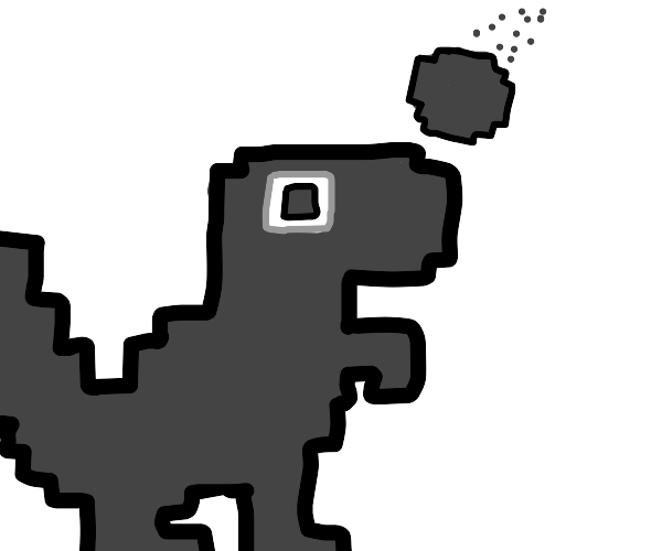 The dinosaur game is hit by a meteor (rip)