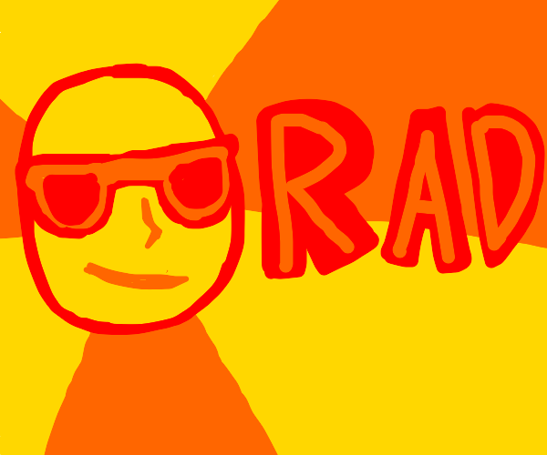 man with sunglasses is radical