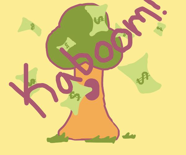 Money Tree Explosion! BOOM!