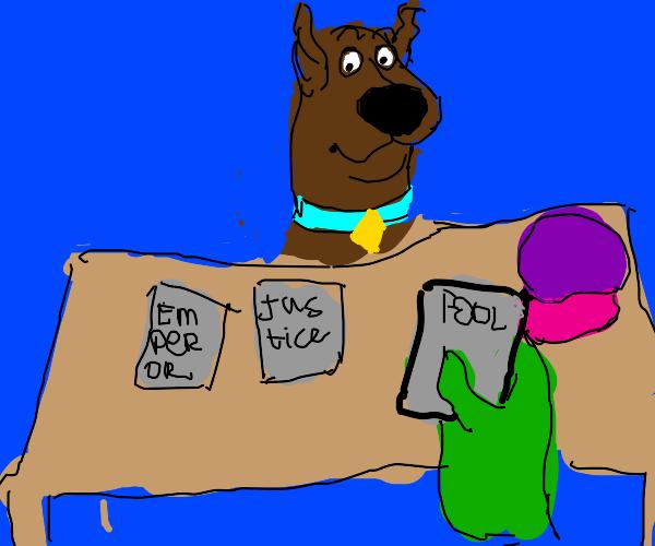 Scooby doo gets a tarot reading from shrek