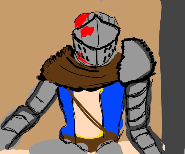 Knight w/ a bleeding head and really long arm