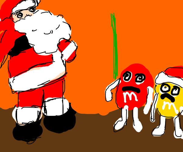 Cookie is hypnotising santa