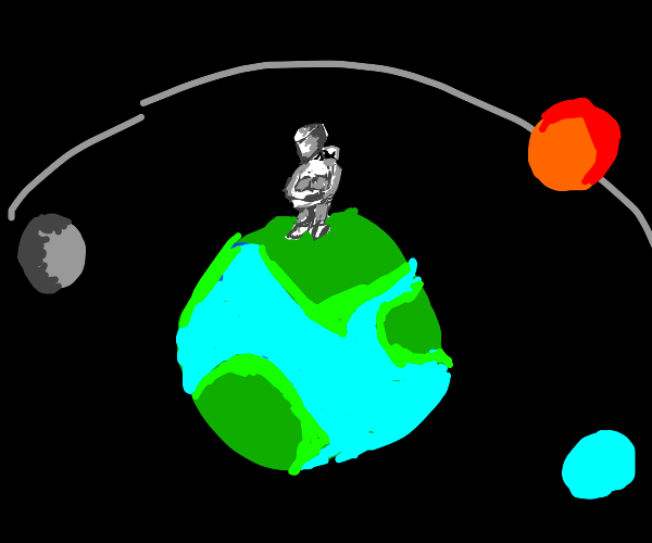 universe doesn't revolve around man on planet