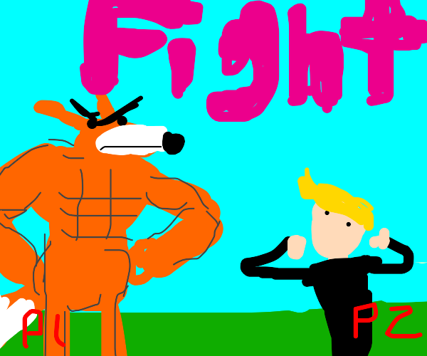 Angry fox (from video game) is going to killU