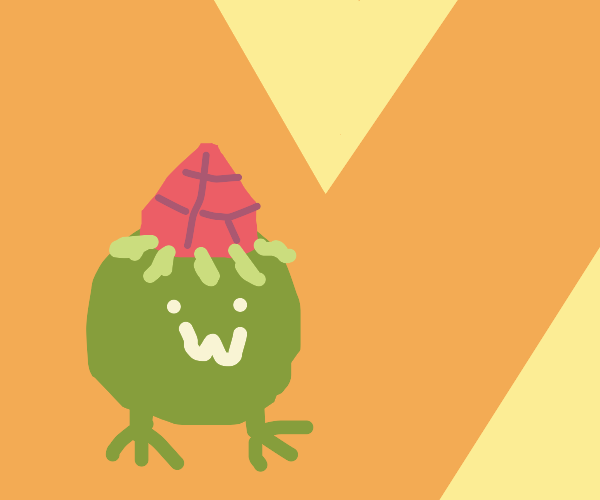 lovely frog with strawberry hat :D