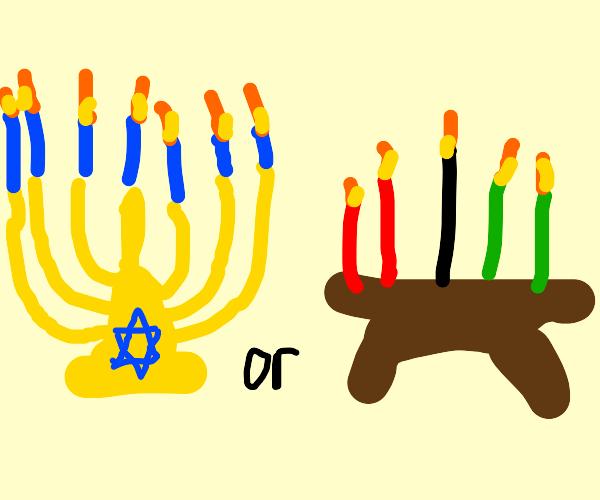 Happy Hanukkah (or Kwanzaa)