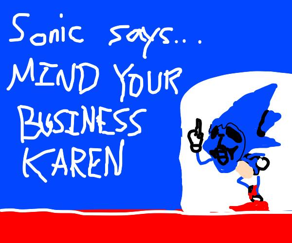 tip to karen: mind your own business