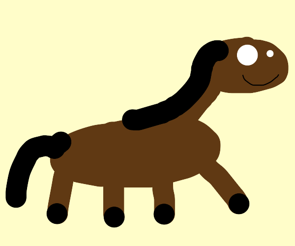 Crudely drawn Horse