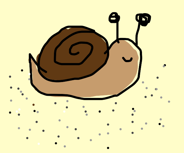 snail with pepper