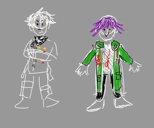 Nagito and kokichi clothesswap