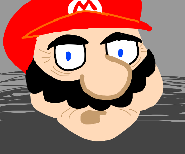 wrinkled mario says to stop