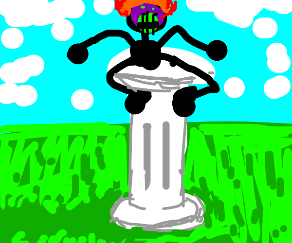 Weird man on a column