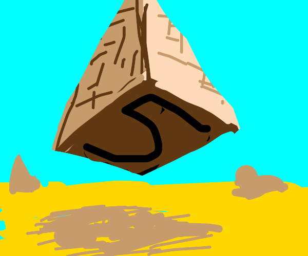 egypt but pyramids have 5 sides