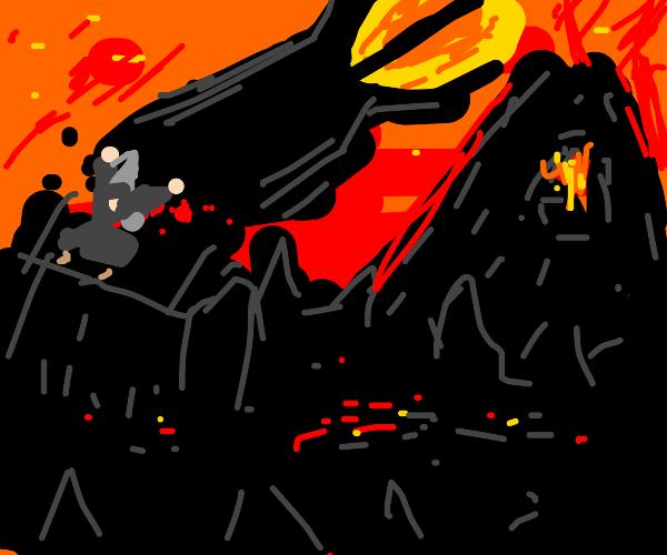 Gandalf defeats Sauron