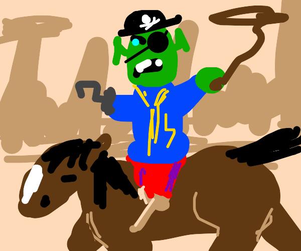 Cowboy pirate shrek