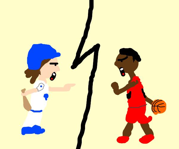 baseball vs basketball. debate of the century
