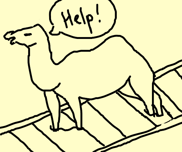 Camel sinking into the Tracks