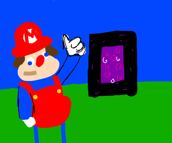 Mario approves the nether