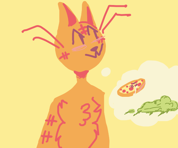 Garfield requires sad pizza and guacamole