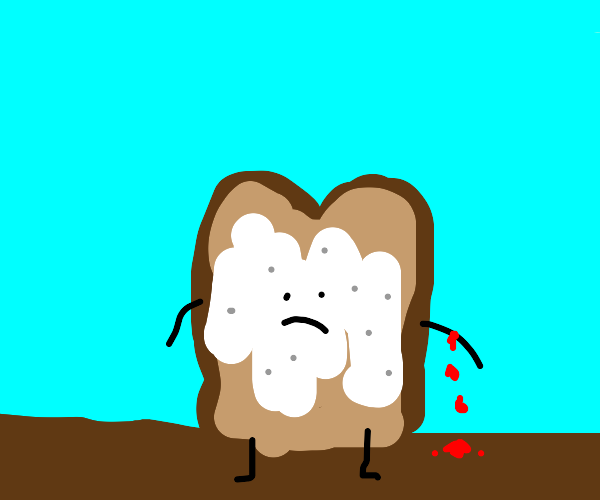 bread with mayonaise bleeding
