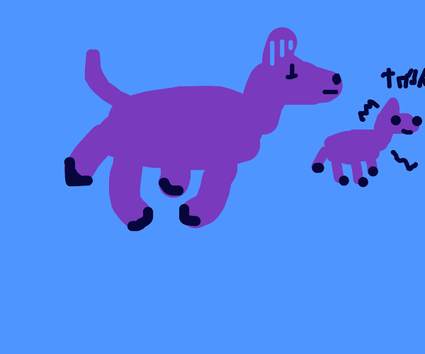Purple horse with social anxiety