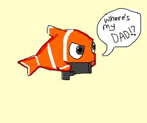 nemo the fish has a gun