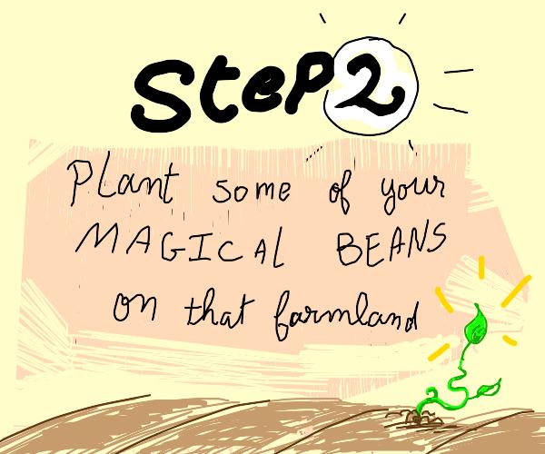 step 1: buy a large stretch of farmland