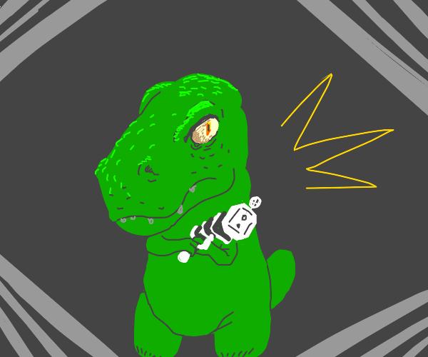 T-Rex has a bazooka