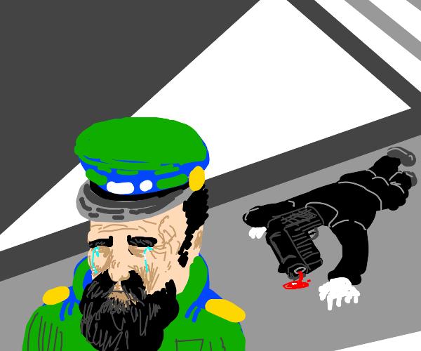 Security gaurd killd a gu n(emotional)