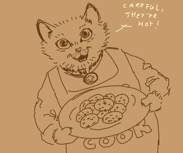 cat baked some cookies !!! :D