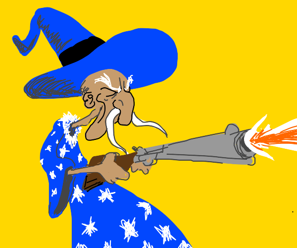 Wizard with a pistol