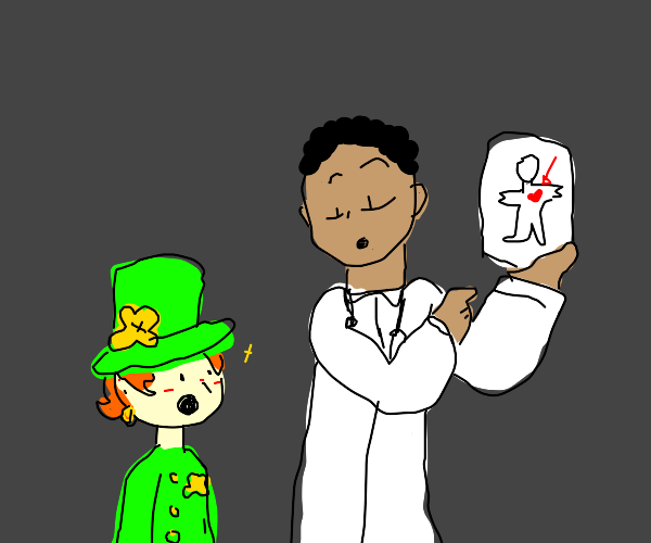 Doctor shows Leprechaun where the heart is