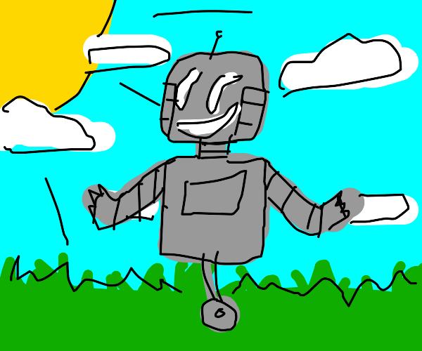 happy robot outside!!!