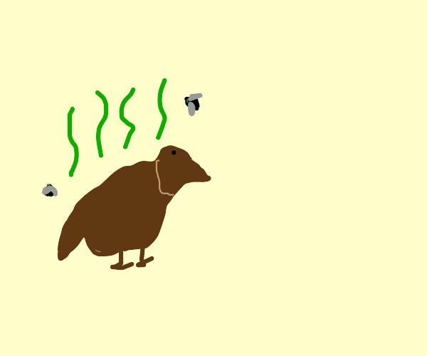Bird made of poop