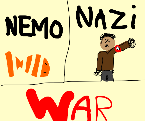 Finding nemo but they start a war