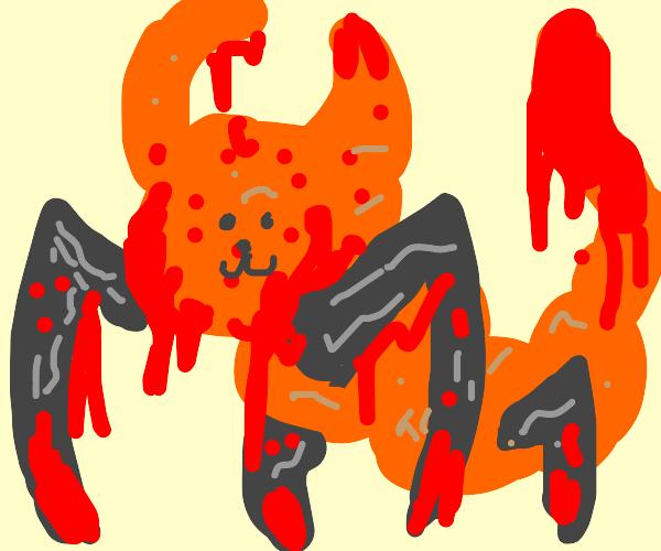 Demonic centipede Garfield