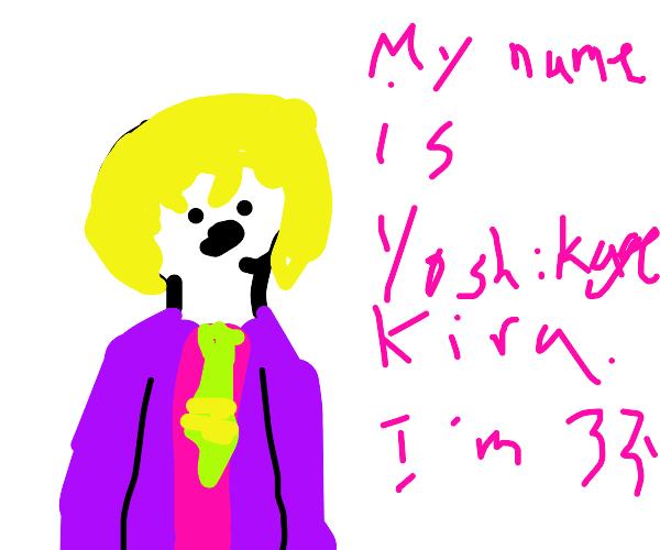 yoshikage kira introduces himself to a man