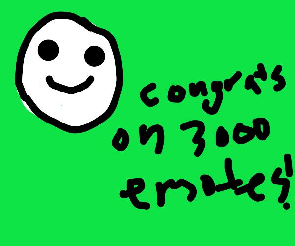 Congrats on 3000 emotes!!