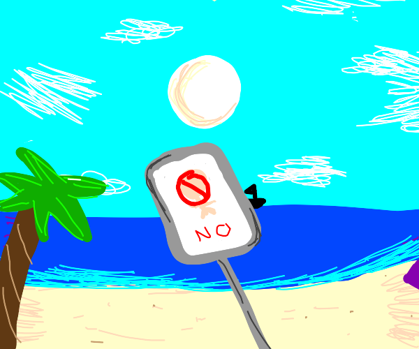 No naked people at the beach