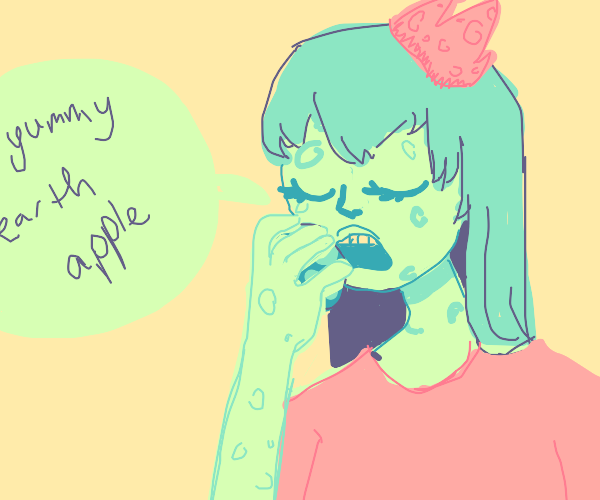 Moon princess eats earth apple