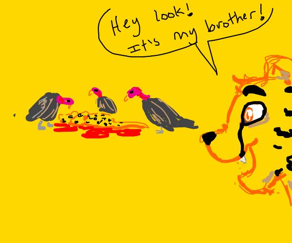 cheetah happy watching their brother die