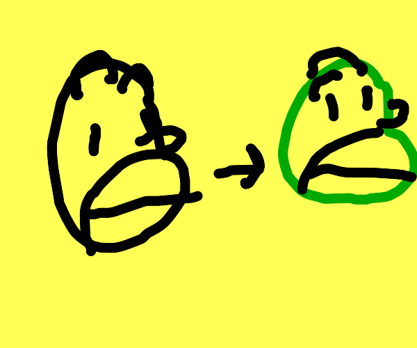 Homer Simpson goes green.