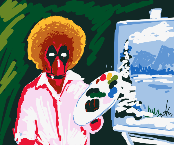 Deadpool, but it's bob ross