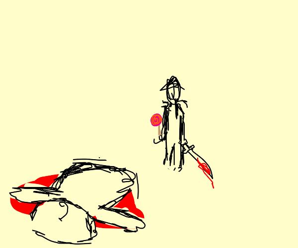 man with lolipop murders fat man