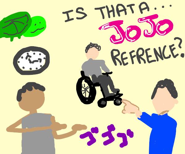 Jojo's Bizarre Adventure reference